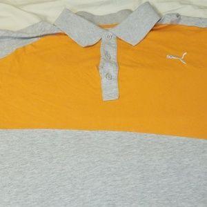 2X Grey/Orange Puma Polo